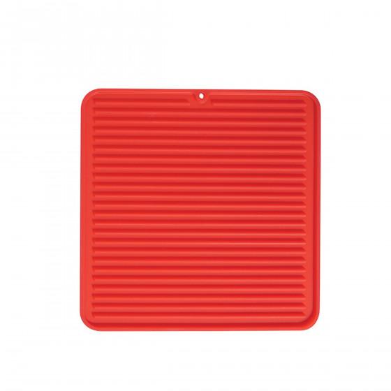 Tapis de séchage pour évier en silicone rouge