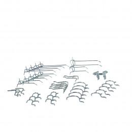 40 crochets métalliques pour panneau perforé