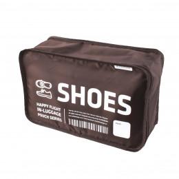 Housse de  voyage marron pour chaussures