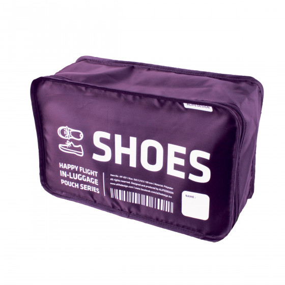 Housse chaussures violette rangement valise for Housse de voyage