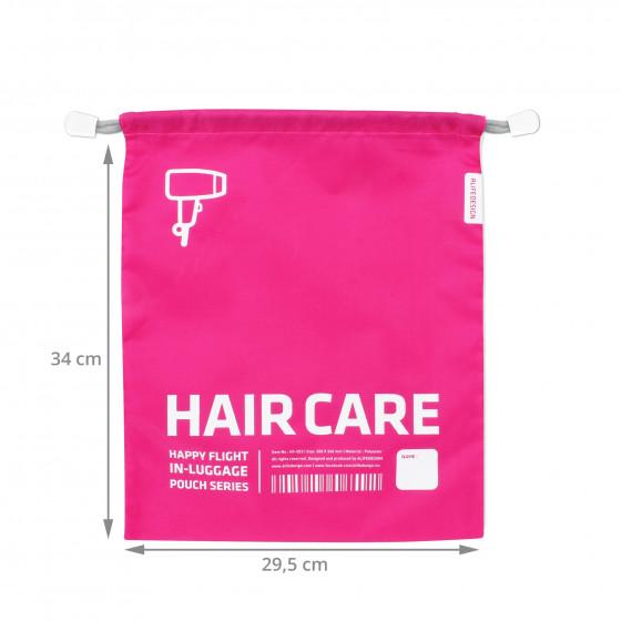 Housse de voyage fuchsia pour sèche cheveux