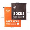 Housses de voyage pour chaussettes et lingerie marron et orange
