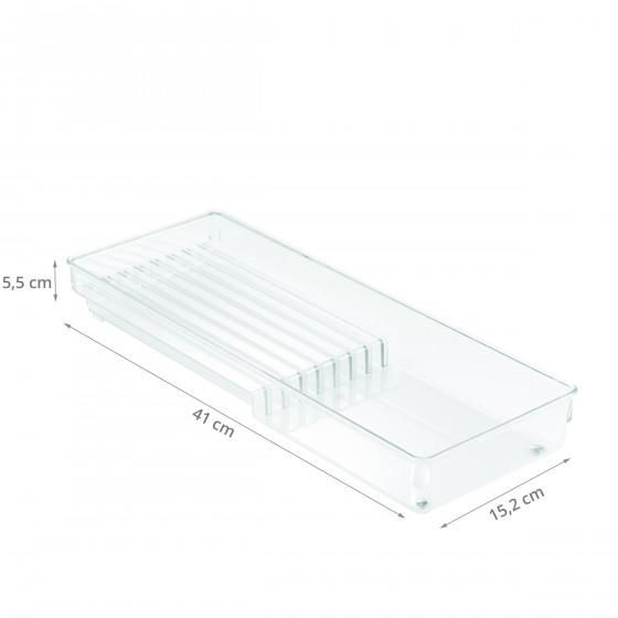 Range-couteaux pour tiroir en acrylique transparent