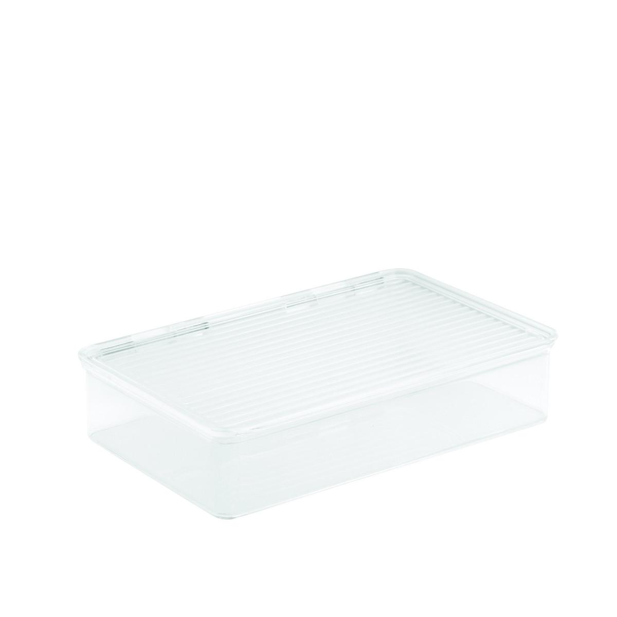 Bo te transparente empilable avec couvercle pour frigo - Boite acrylique transparente ...