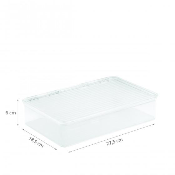 bo te transparente empilable avec couvercle pour frigo. Black Bedroom Furniture Sets. Home Design Ideas