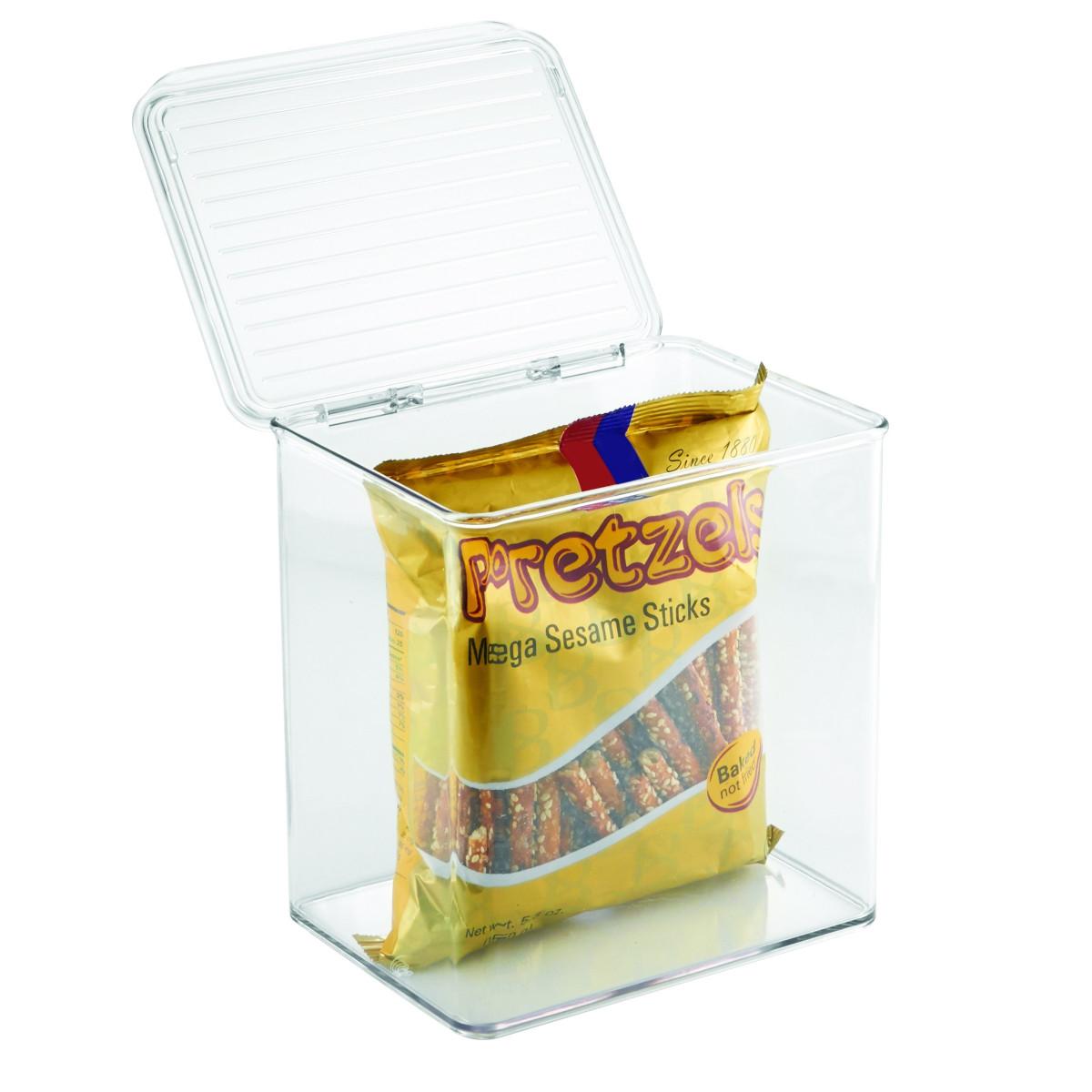 Bo te pour placards de cuisine empilable avec couvercle - Boite plastique cuisine ...