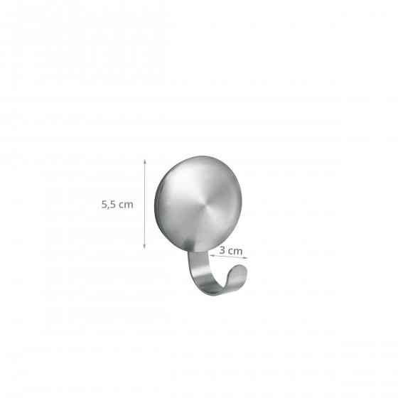 2 crochets adhésifs en métal. Diamètre 5,5 cm