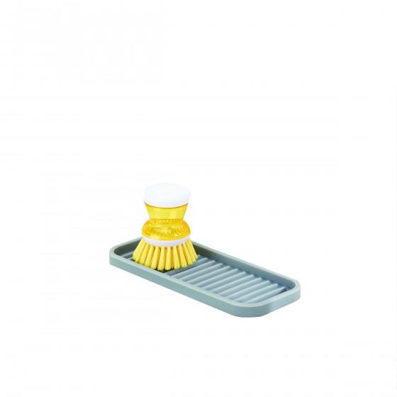 Porte savon d'évier en silicone gris