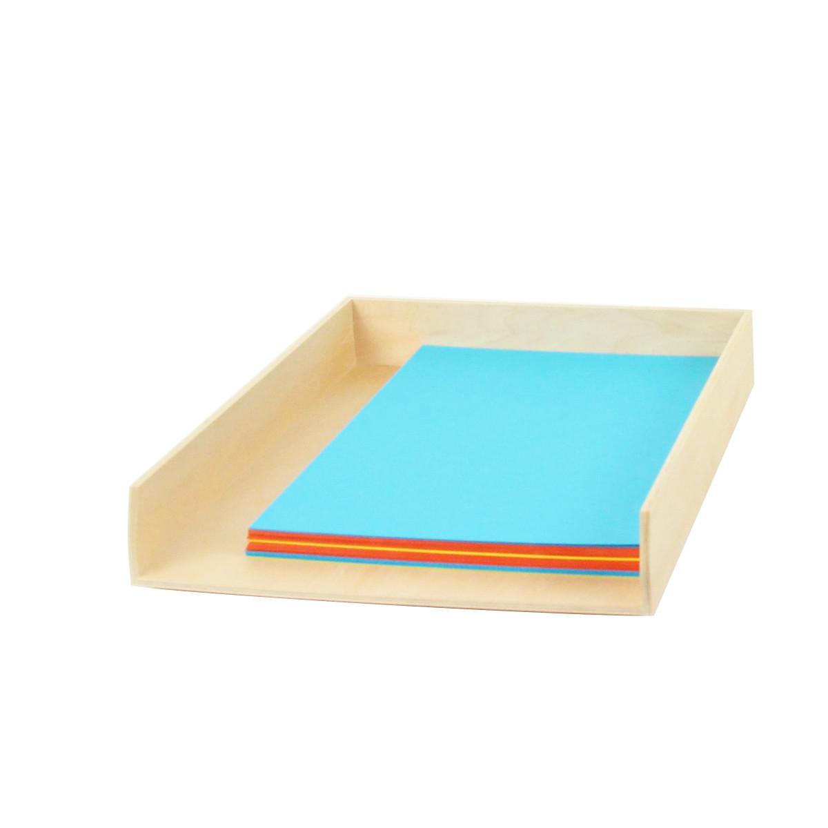 bannette courrier bois naturel format a4 rangement bureau. Black Bedroom Furniture Sets. Home Design Ideas