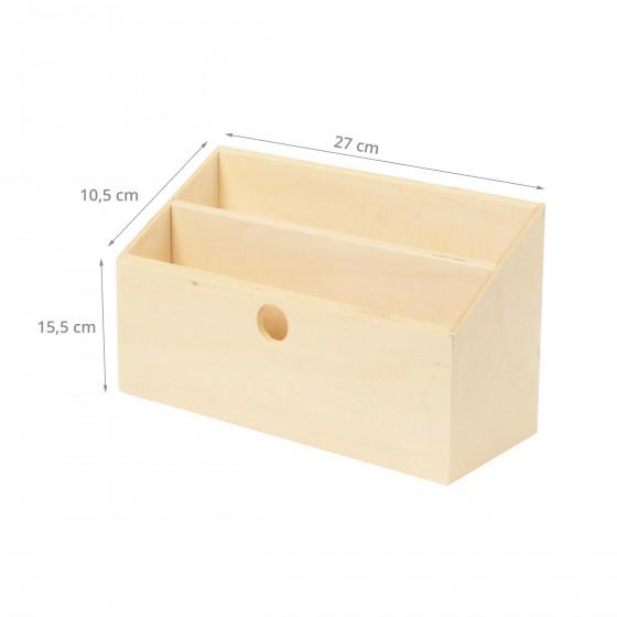 porte lettres bois naturel rangement courrier. Black Bedroom Furniture Sets. Home Design Ideas
