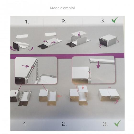 Module de classement blanc et vert à 2 étagères
