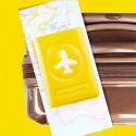 Protège passeport  jaune brillant