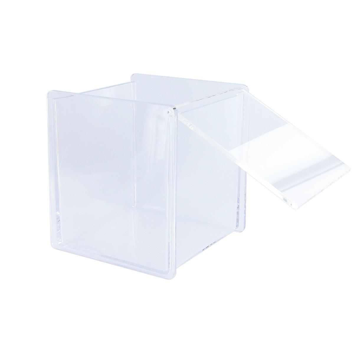 Bo te cube transparente rangement picerie - Boite acrylique transparente ...