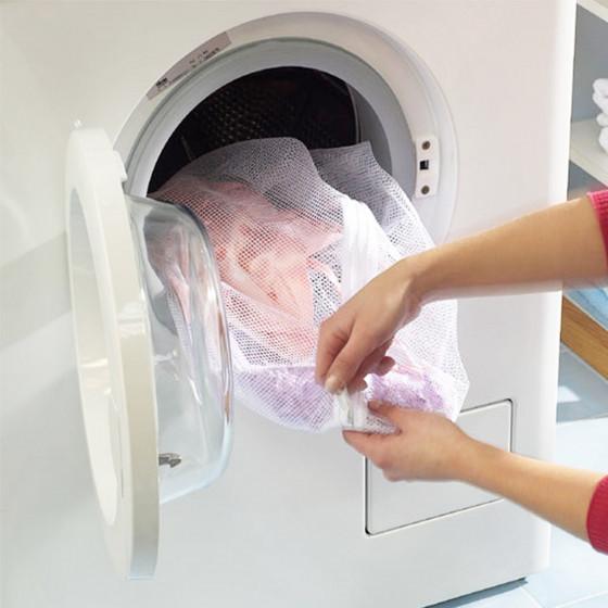 Filet à linge avec fermeture éclair pour lave-linge.Taille L