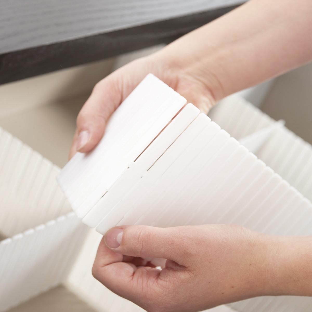 Séparateur de tiroir modulable blanc   rangement vêtements