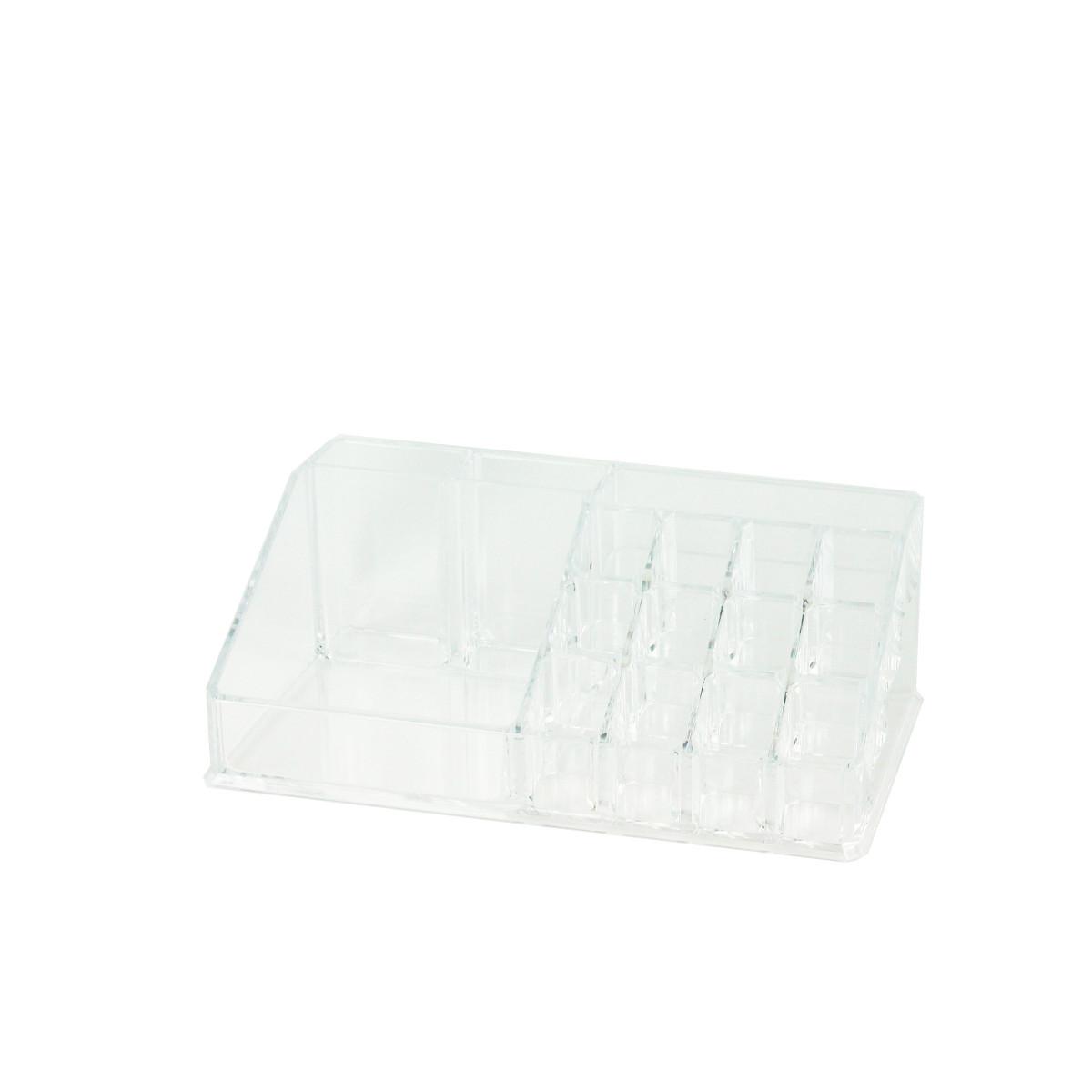 pr sentoir maquillage acrylique 16 compartiments rangement. Black Bedroom Furniture Sets. Home Design Ideas