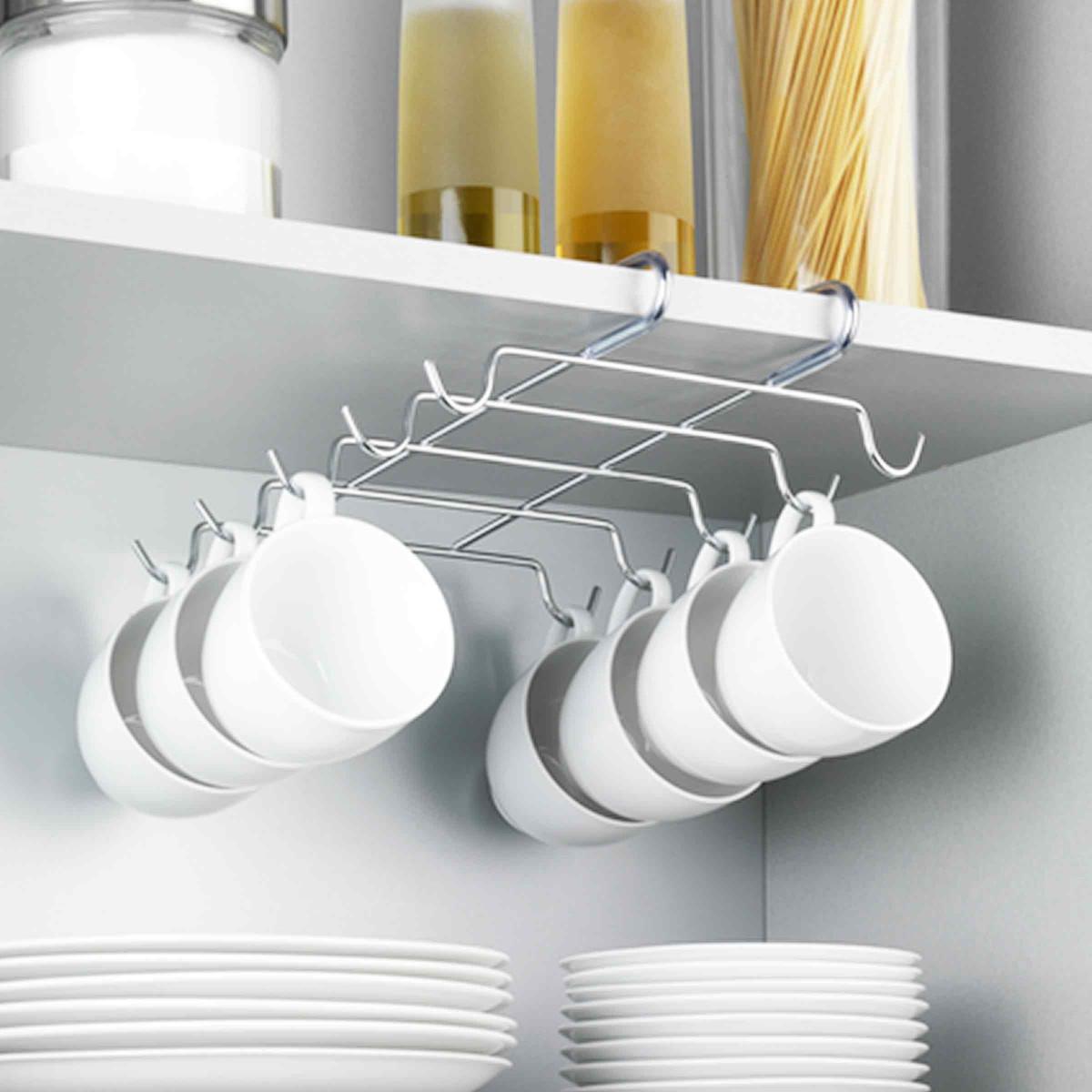 porte tasses rack pour 10 tasses rangement. Black Bedroom Furniture Sets. Home Design Ideas