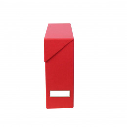 Boîte de classement en carton rouge
