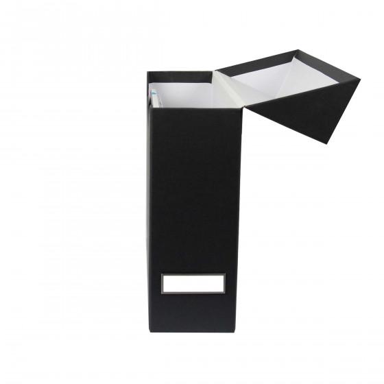 boîte classement carton gris anthracite - rangement bureau