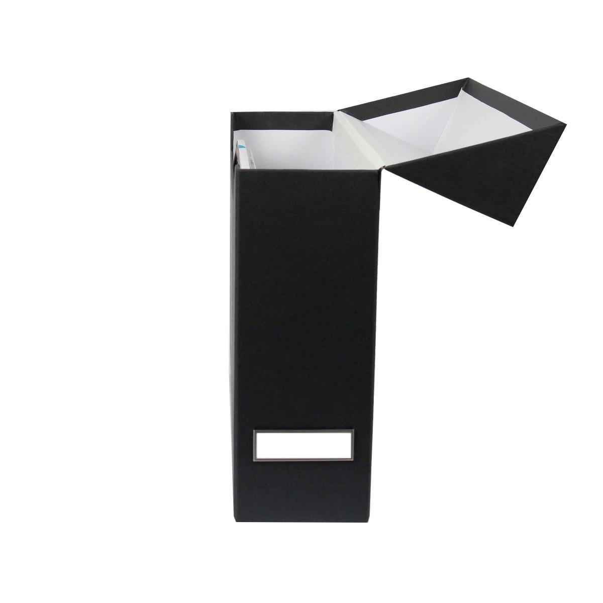 bo te classement carton gris anthracite rangement bureau. Black Bedroom Furniture Sets. Home Design Ideas