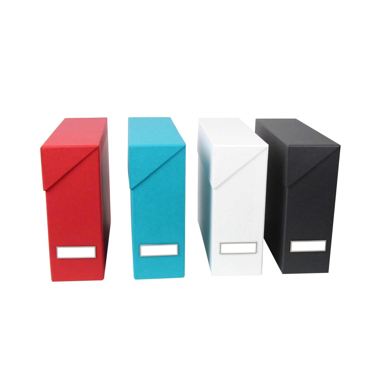 Bo te classement carton gris anthracite rangement bureau for Classement papier bureau
