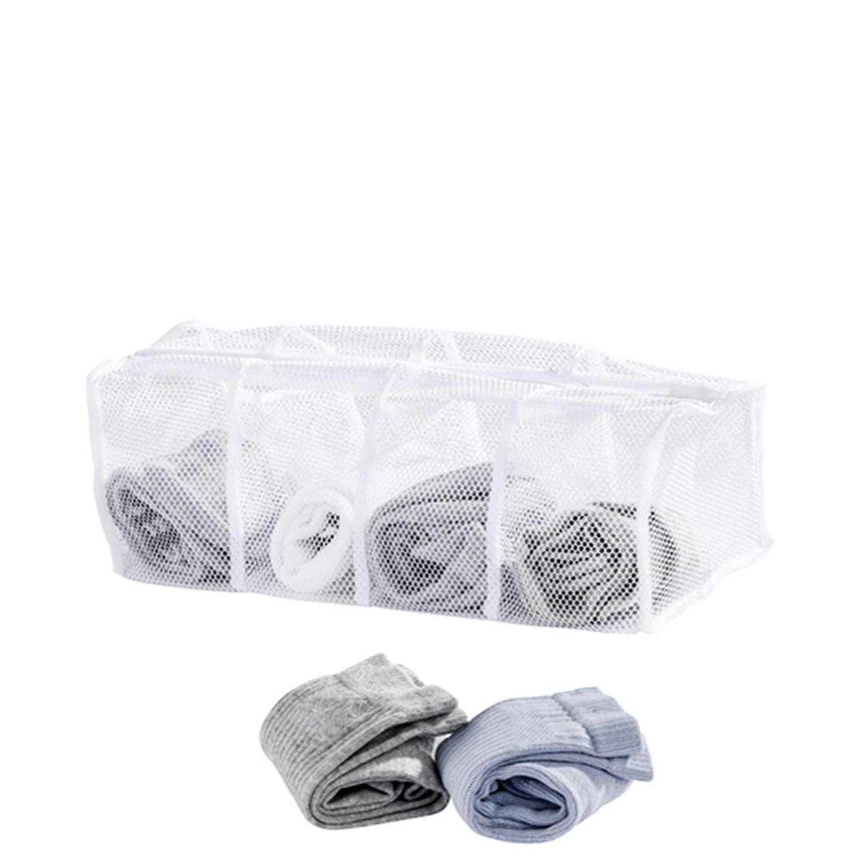 filet linge chaussettes 4 compartiments. Black Bedroom Furniture Sets. Home Design Ideas