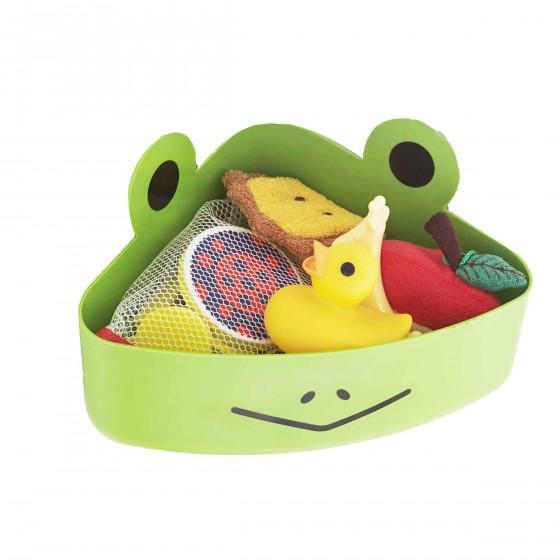 Panier range jeux de bain grenouille