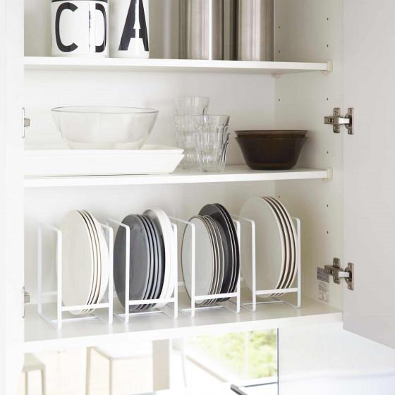 Range assiette blanc rangement vertical vaisselle - Rangement vaisselle cuisine ...