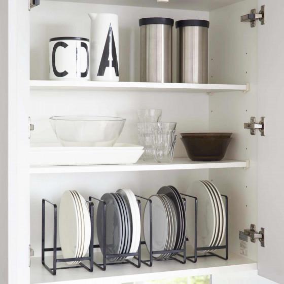 Rangement vertical pour petites assiettes noir rangement vaisselle - Rangement vaisselle cuisine ...