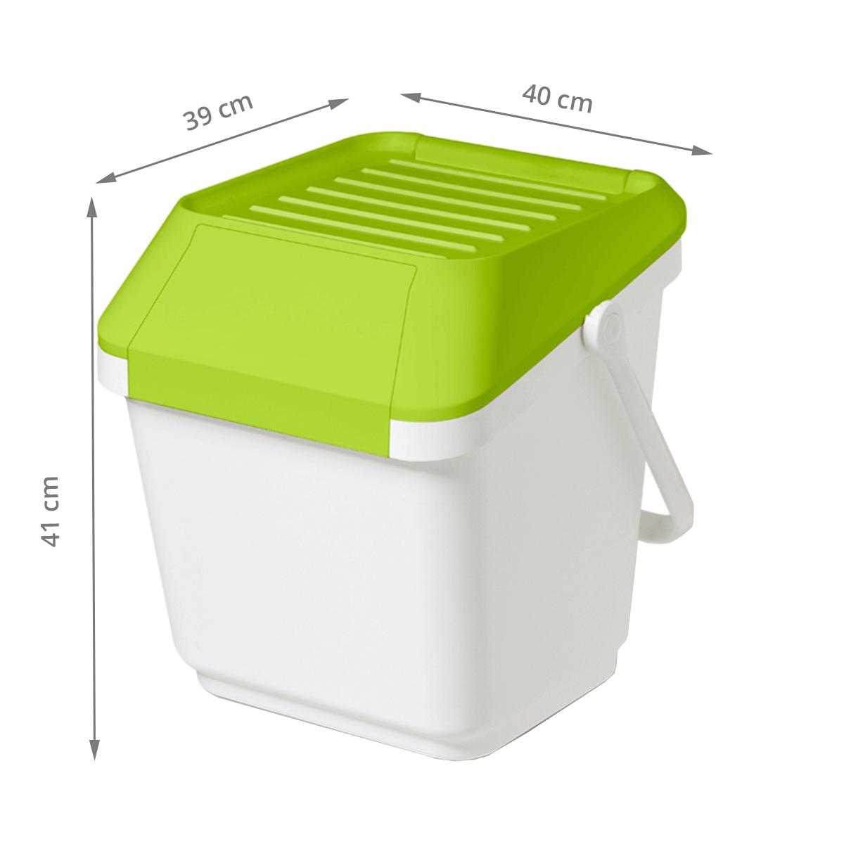 panier linge empilable plastique blanc et vert anis. Black Bedroom Furniture Sets. Home Design Ideas