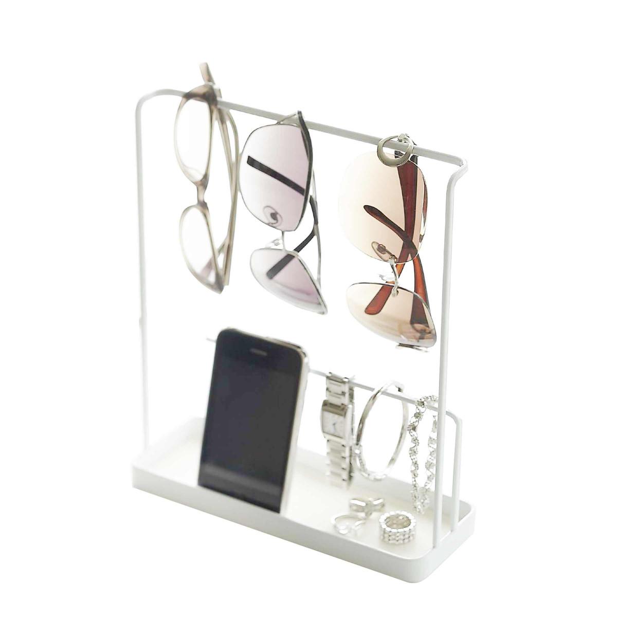vide poche design m tal blanc rangement entr e. Black Bedroom Furniture Sets. Home Design Ideas