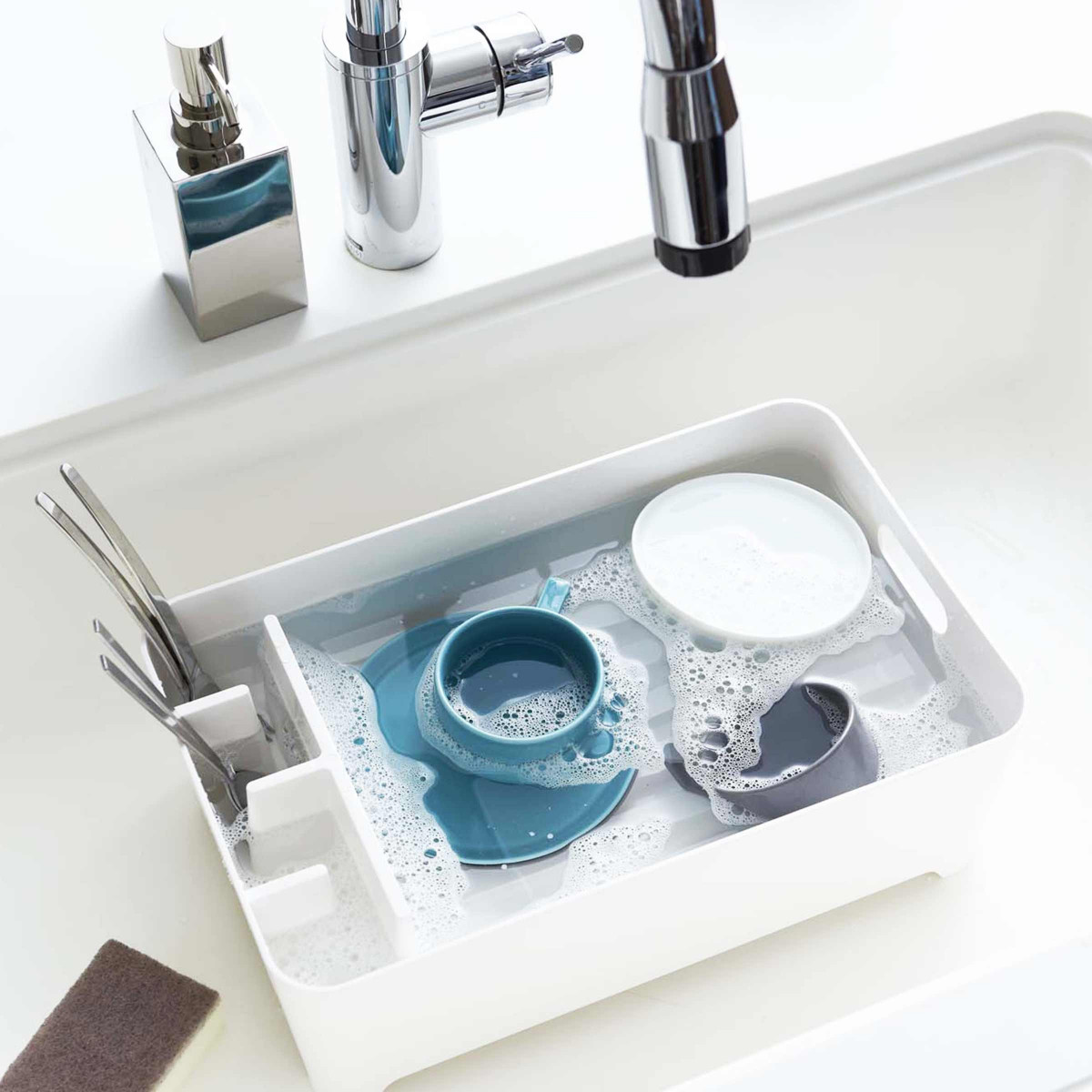 Egouttoir design blanc rangement vaisselle cuisine - Rangement vaisselle cuisine ...