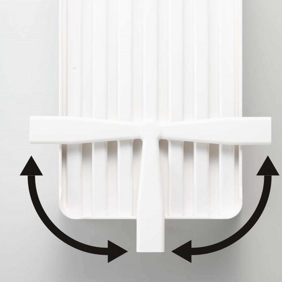 Egouttoir design en plastique blanc