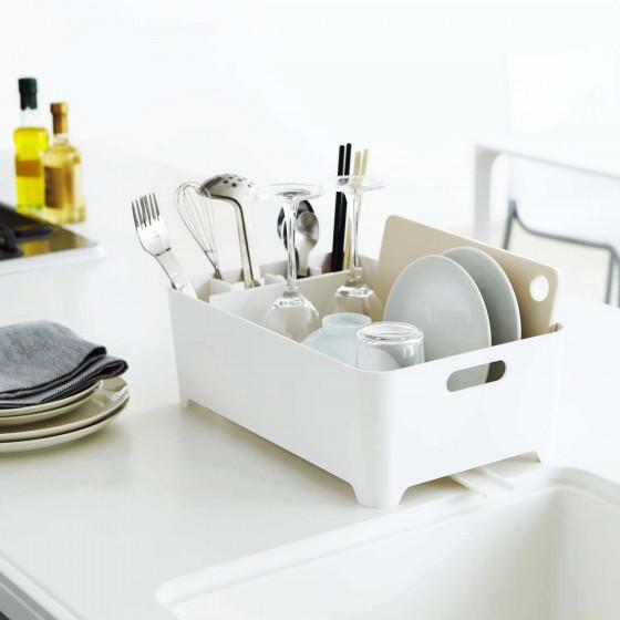 egouttoir design blanc rangement vaisselle cuisine. Black Bedroom Furniture Sets. Home Design Ideas