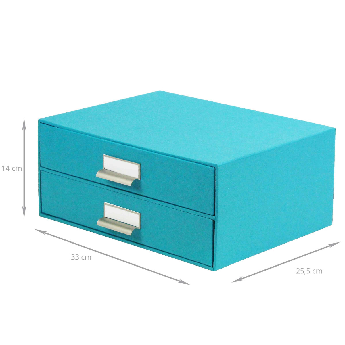 bo te carton turquoise 2 tiroirs archivage. Black Bedroom Furniture Sets. Home Design Ideas