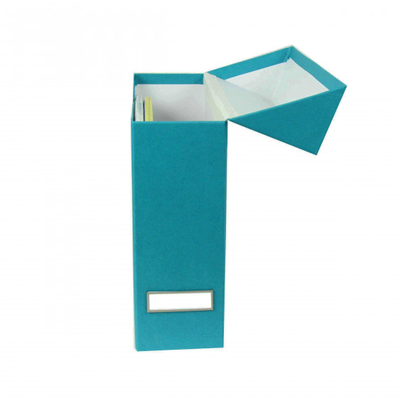 bo te classement carton turquoise rangement bureau. Black Bedroom Furniture Sets. Home Design Ideas