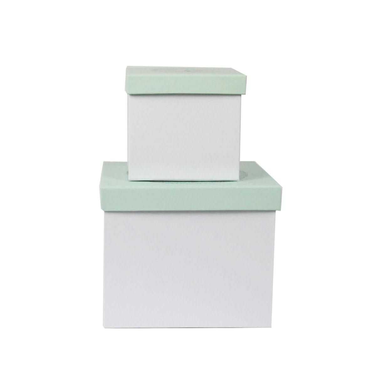 Bo tes en carton vert d 39 eau rangement chambre d 39 enfant - Boite de rangement plastique enfant ...