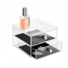 Boîte à bijoux en acrylique 2 tiroirs