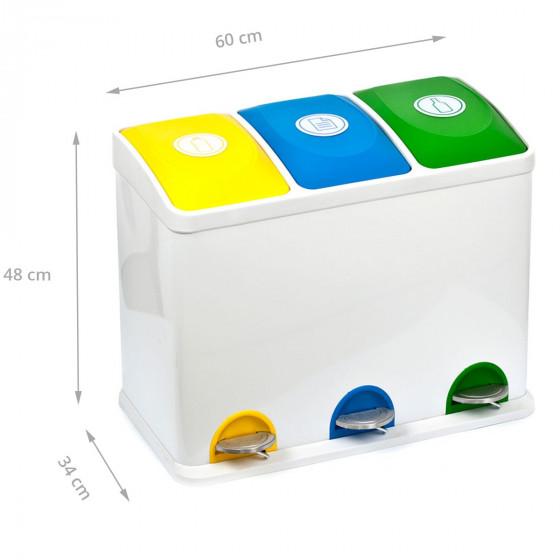 Poubelle 3x15L de recyclage