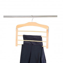 Cintre en bois pour 4 pantalons