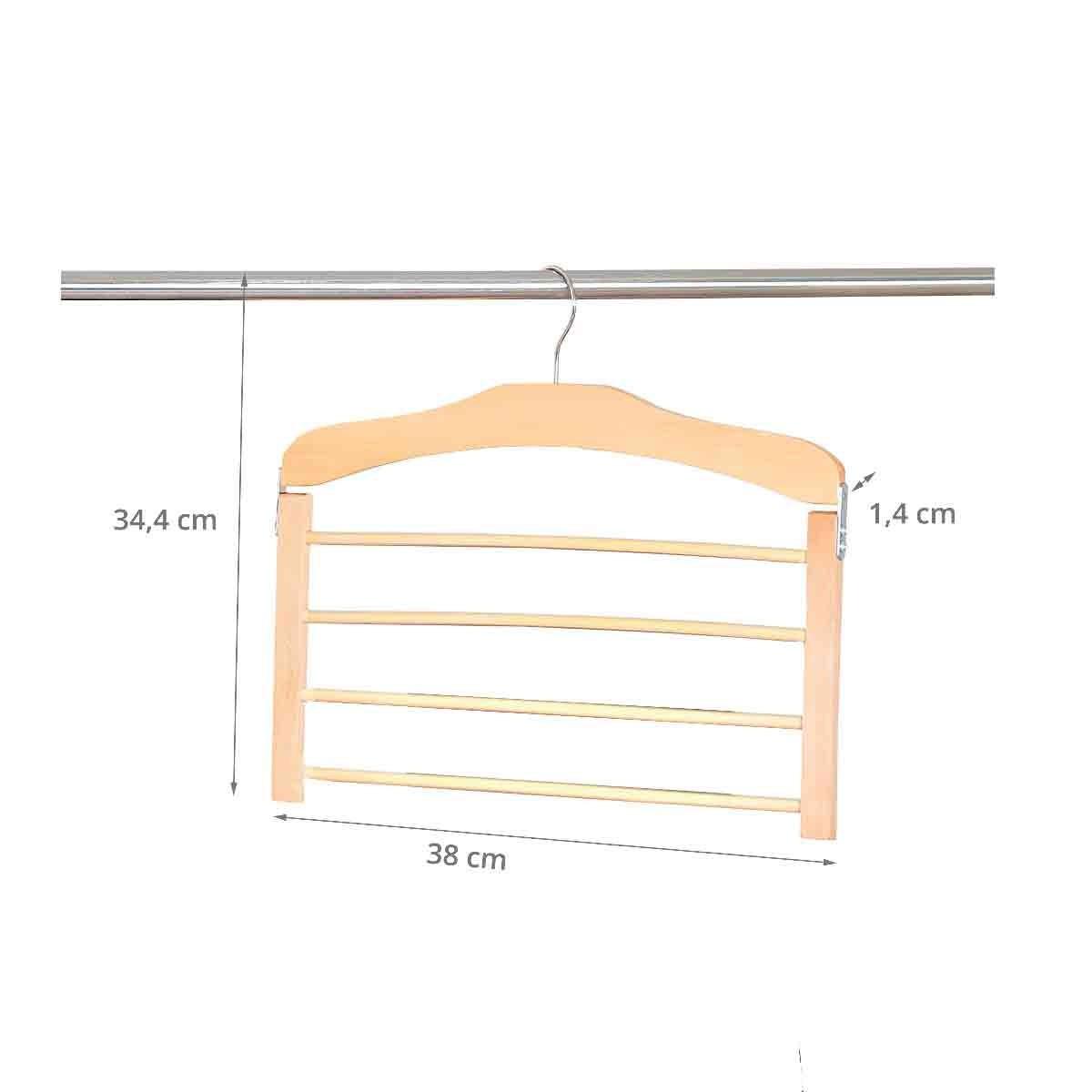 cintre pour pantalons en bois 4 barres rangement penderie. Black Bedroom Furniture Sets. Home Design Ideas