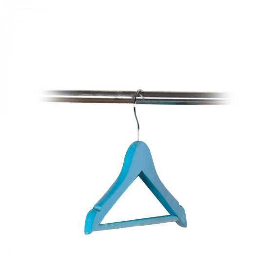 Cintre pour enfants en bois bleu