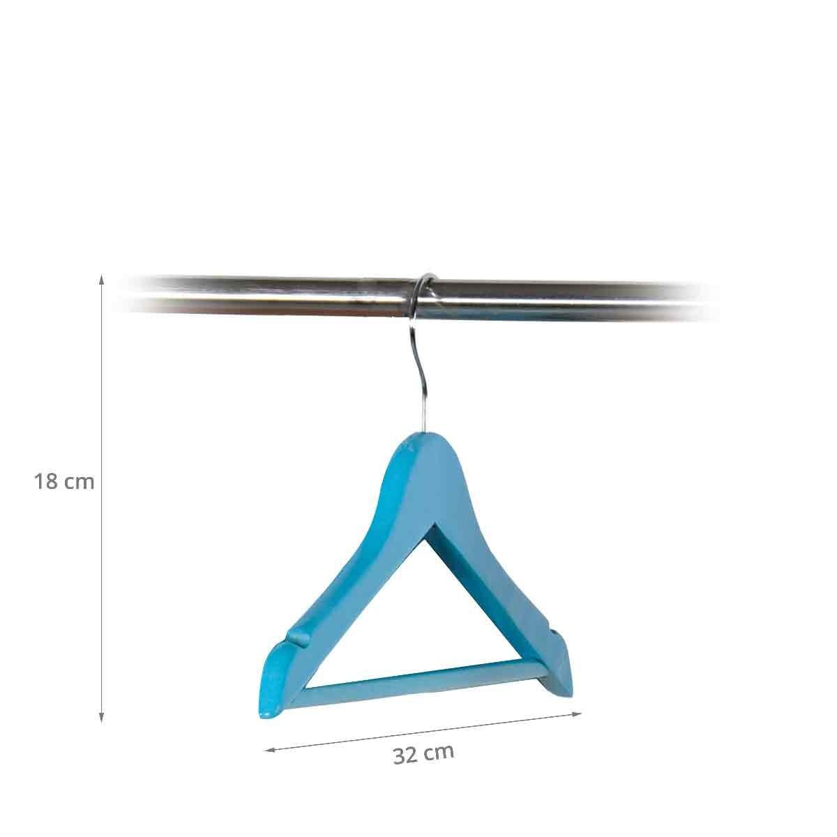 cintre pour enfant en bois bleu rangement v tements. Black Bedroom Furniture Sets. Home Design Ideas