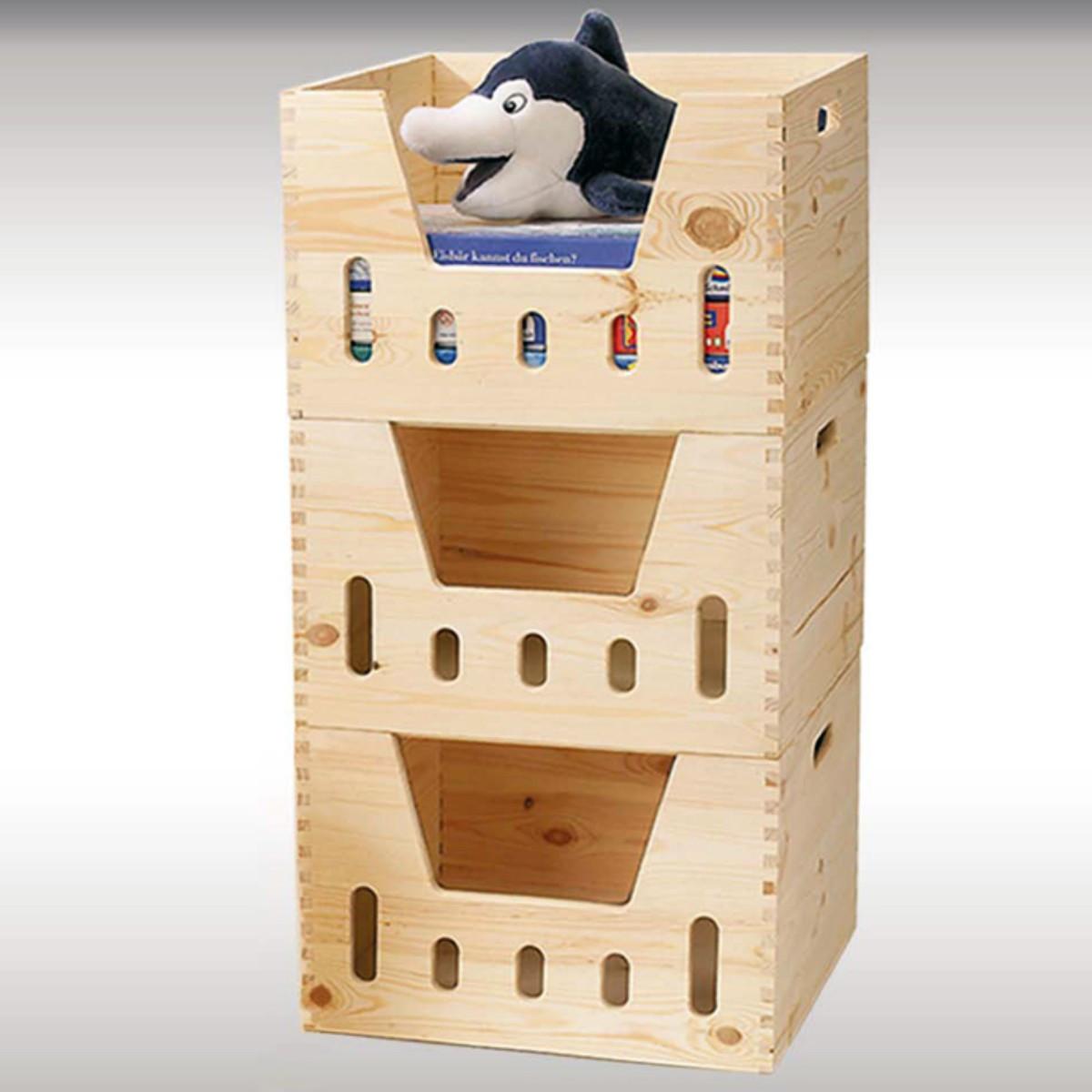 Rangement Pour Le Bois caisse de rangement empilable en bois