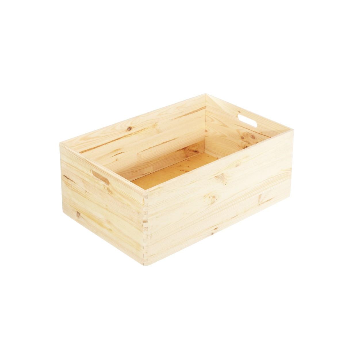 Petite caisse en bois rangement cuisine for Petit rangement en bois