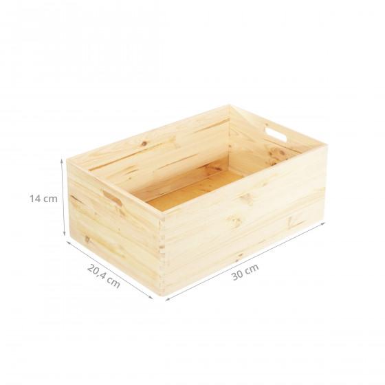 caisse de rangement en bois empilable pin fsc. Black Bedroom Furniture Sets. Home Design Ideas