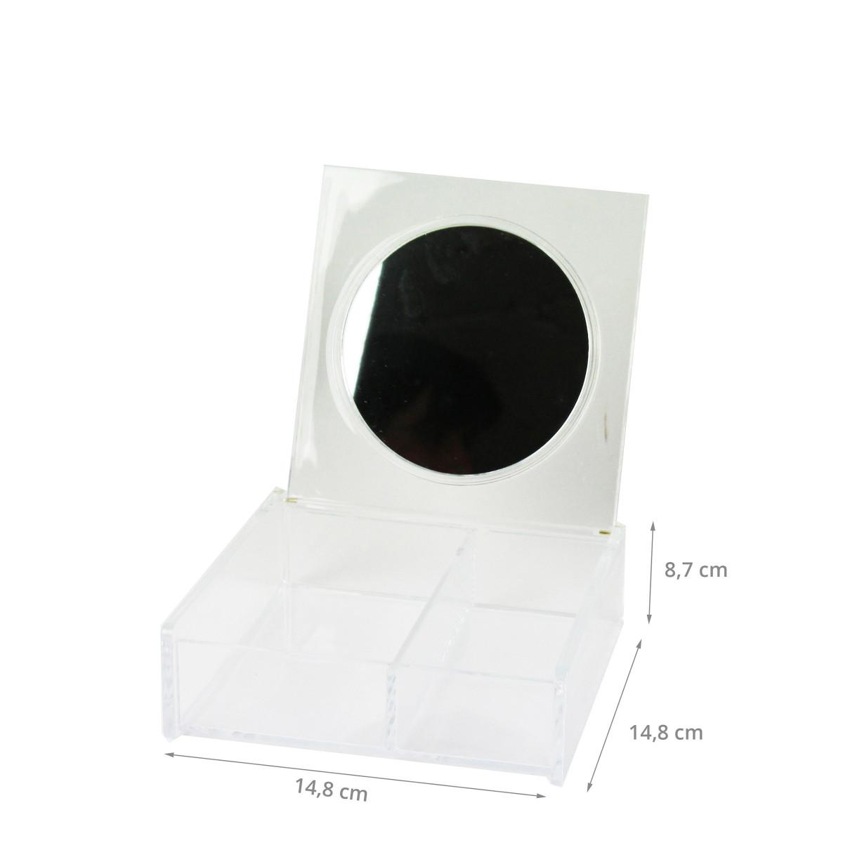 bo te maquillage avec miroir rangement. Black Bedroom Furniture Sets. Home Design Ideas