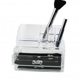 Boîte de rangement maquillage à 9 compartiments et 2 tiroirs