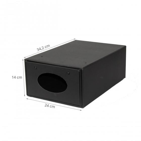 Boîte à chaussures coulissante en carton noir