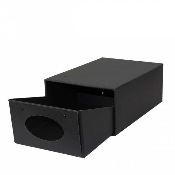 bo te chaussures tiroir en carton noir rangement. Black Bedroom Furniture Sets. Home Design Ideas